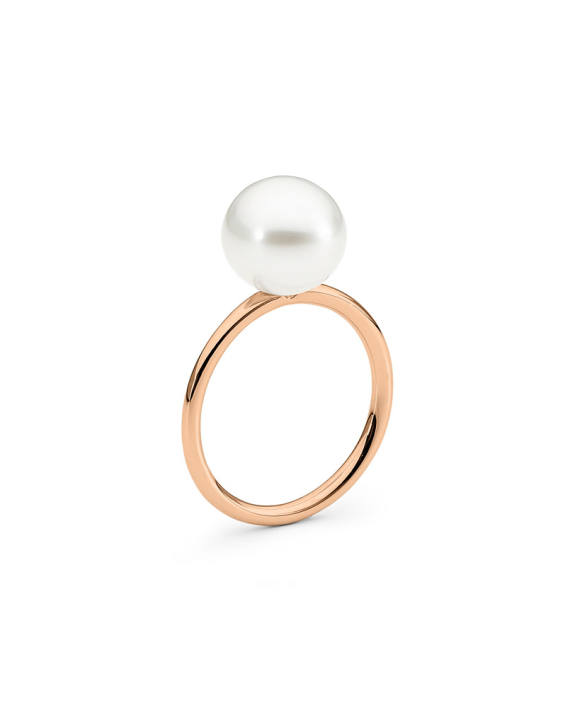 18ct Rose Gold Pearl Ring