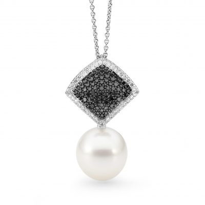 White Gold, Pearl And Diamond Pendant