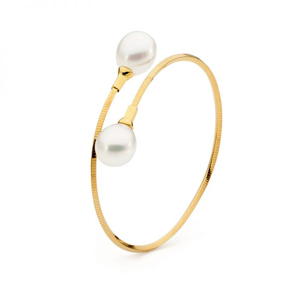 Single loop pearl bangle
