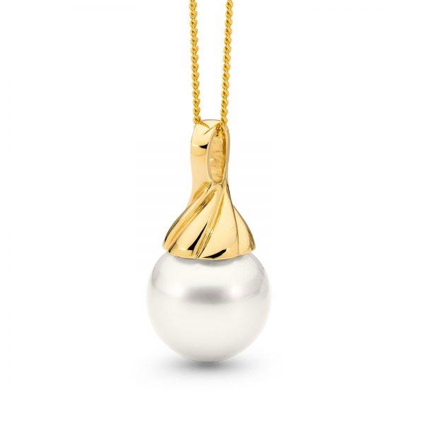 Oval Pearl Pendant