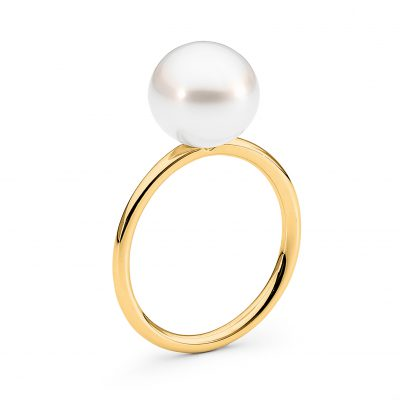 Stack Pearl Ring Gold