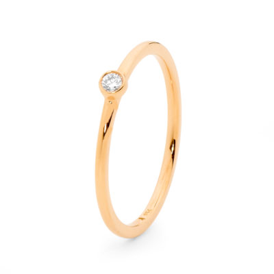 Rose gold rounded diamond ring