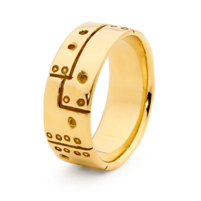 mens engraved ned kelly ring