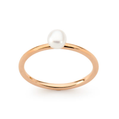 Keshi Pearl Stacker Ring