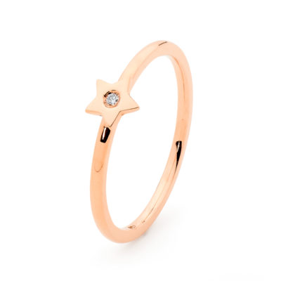 rose gold stackable star ring