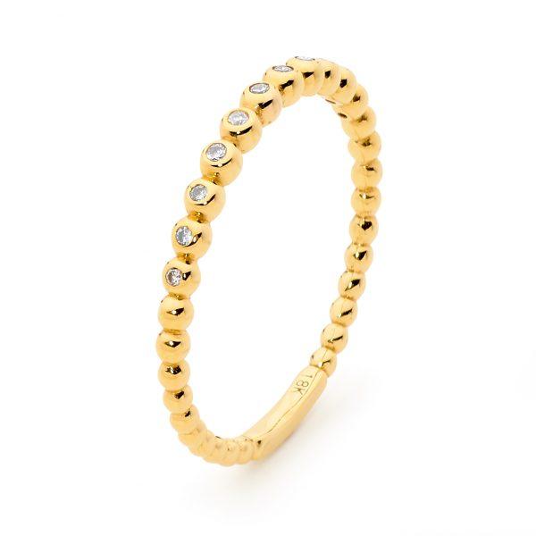 gold stack diamond ring
