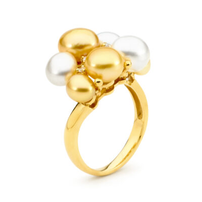Gold Keshi Pearl Ring