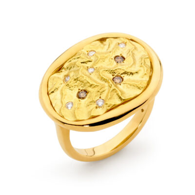 Argyle Diamond Gold Ring