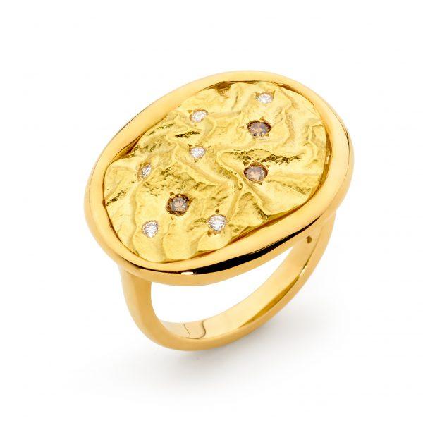 Argyle Diamond Gold Ring